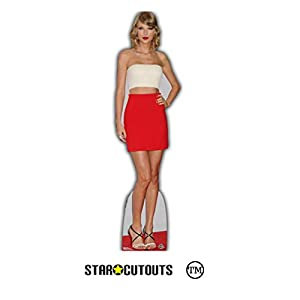 Star Cutouts Ltd CS619 Taylor Swift - Recorte de cartón de tamaño real perfecto para fans, amigos, familia y eventos, altura 180 cm, ancho 54 cm, multicolor