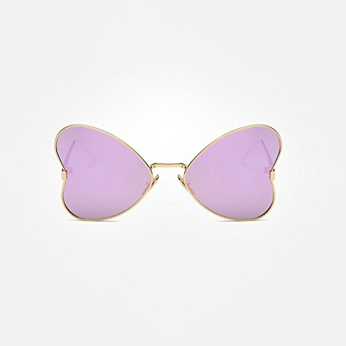 MWPO Polarisierte Sonnenbrille New Women 's Butterfly Style im freien Fahren straße pat Fotografie Brille (Farbe: Gold Rahmen lila Wasser Silber objektiv)