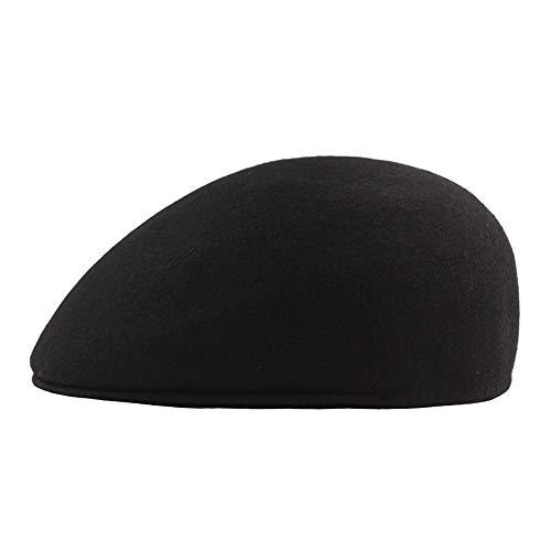 Aszhdfihas Der Baretthut der Frauen Männer und Frauen Damen Beret Filz Hut Herbst Winter Mütze Hut Damen Mädchen Trendy (Farbe : ()