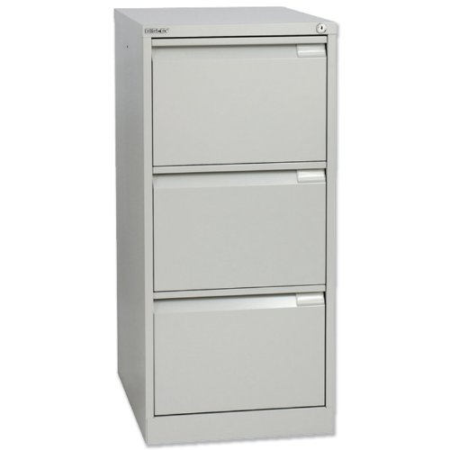 Cheapest Price for Bisley BS3E Filing Cabinet Flush-front 3-Drawer W470xD622xH1016mm Goose Grey Ref BS3E-73 Online