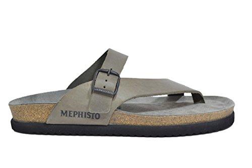 Mephisto Ciabatte infradito peltro sandali uomo NIELS 45