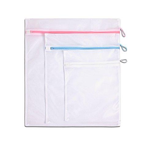 LaundrySpecialist SAC À LAVAGE / Sac à Linge / Filet à linge / Sacs de blanchisserie LaundrySpecialist - lot de 3 - de couleurs différentes pour la pr...