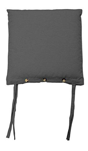 Stuhlkissen Sitzkissen Sitzpolster ISABELLA 3 | 45 x 45 cm | Anthrazit | Baumwolle | Polyester