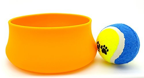value-set-guyot-designs-squishy-pet-bowls-32-oz-tangerine-silicone-pet-bowl-plus-gift-dogs-tennis-ba