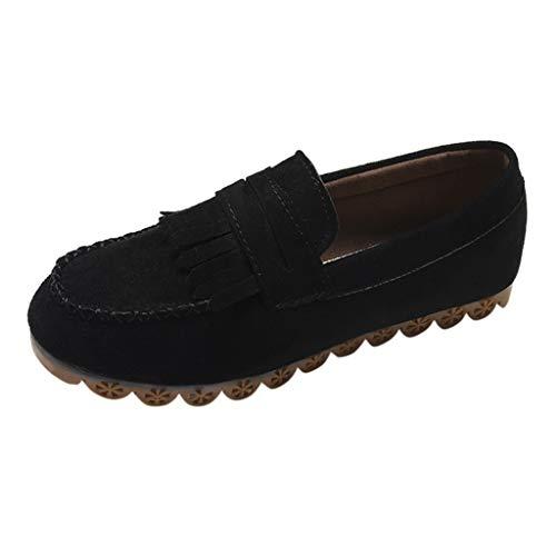 Ihaza donna elegante nappa rotonda toe piatto casuale mocassini scarpe