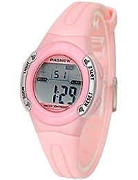 16e48c38e8c1 TD Reloj Infantil Unisexo Reloj De Pulsera Impermeable Reloj Electronico  Digital (Color   Rosado)