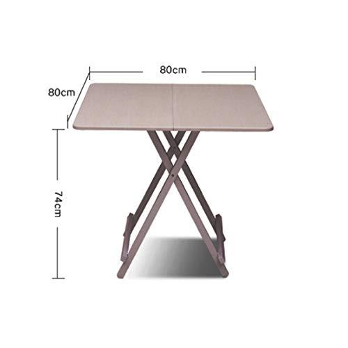 Hengtongtongxun Type De Support, Pique-Nique, Table À Manger, Table Pliante, Table Barbecue, Simple Et Pratique, Table Carrée, Extérieur, Maison (Color : White)