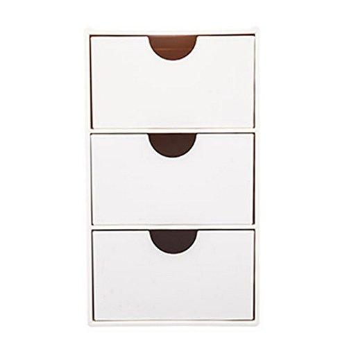 Schubladen Container, Likeluk 3 Schubladen Schubladenschrank Schubladenbox Rollwagen Rollcontainer Werkzeugschrank,15 × 11 × 8,7cm