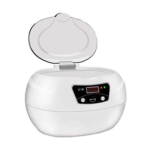 Ultraschallreiniger, Ultraschallreinigungsgerät 600ML, Cadrim Ultraschallbad Ultraschall Reiniger Reinigungsgerät für zuhause Gläser Düse Zahnersatz Schmuck-Reiniger(600 ml)
