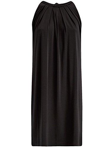 oodji Collection Femme Robe Coupe Droite avec Liens à Nouer sur le Dos Noir (2900N)