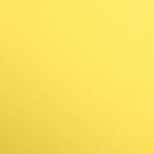 Clairefontaine 97954C Packung (mit 25 Bögen Zeichenpapier Maya, DIN A1, 59,4 x 84 cm, 270g, glatt, ideal für Trockentechnik und Einrahmen) zitrone