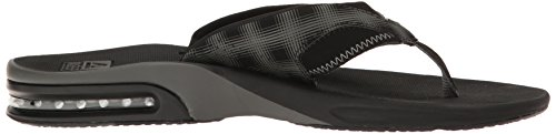 Reef Fanning Prints Army Camo, Tongs homme Black Plaid 4