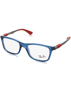 Ray-Ban 0Ry1549 3734, Monturas de Gafas Unisex-Niños, Transparente Blue, 46