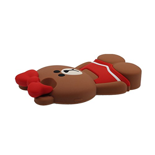 """Hülle für iPhone 6 Plus, Schutzhülle Case für Apple iPhone 6S Plus 5.5"""", Tier Niedlich Kleiner Bär Mit Rock Aussehen Weich Silikon Gel / Komfortabler Griff Passt Perfekt Rot"""