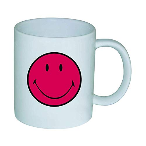Zak Designs 6662-1590 Smiley - Mug 35 cl Grenadine/Blanc