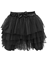 SODIAL(R) Sexy Lady Lace Gauze Tutu Women 5 Layer Cake Mini Skirt Black