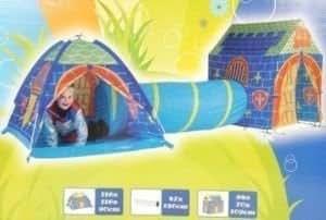 maison cabane tipi enfant chateau avec tunnel de jeu jeux et jouets. Black Bedroom Furniture Sets. Home Design Ideas