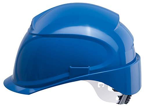 Uvex Airwing B Schutzhelm - Belüfteter Arbeitshelm für die Baustelle - Blau Blau
