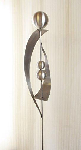 Gartendeko Skulptur 100 % Edelstahl 120cm mit Edelstahlkugeln*
