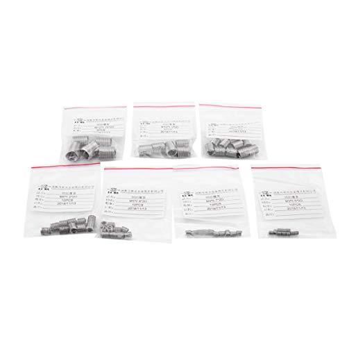 Kongqiabona 60PCS Gewinde-Einsatz-Set M3 / 4/5/6/8/10/12 Gewindereparatur-Einsatz-Kit für Helicoil-Reparaturwerkzeuge Hohe Festigkeit und Härte -
