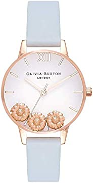 Olivia Burton Womens Quartz Watch, Analog Display and Leather Strap OB16CH04