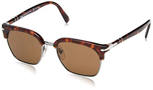 88b2ce1852 Persol 24/57 Gafas de sol, Rectangulares, Polarizadas, 52, Havana
