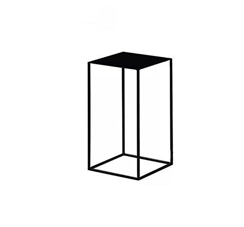 NYDZ Table de Sofa, Tables de Chevet Salon Chambre intérieur Minimaliste, Porte-Pot de Fleurs en Fer forgé (Couleur : Noir, Taille : B)