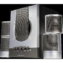 2.1 sound system silver