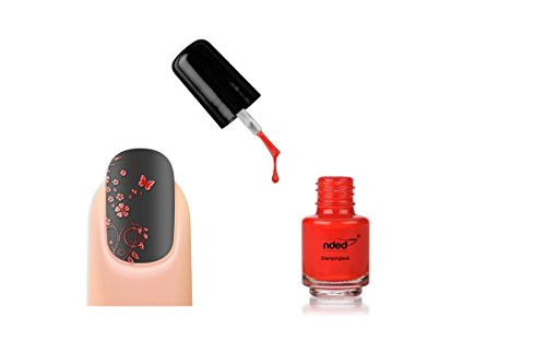 Vernis stamping Couleur Rouge nail art - Nded - 5ml - Ref8976