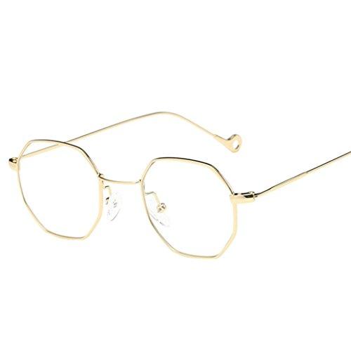 Sommer Brille FORH Unisex Mode Polarisierte Katzenaugen Sonnenbrille Klassische Unregelmäßige Rahmen Gläser Outdoor Sportarten Schutz Brille UV-Schutz Fahrbrille (Gold)