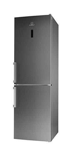Indesit LI8 FF2O X B H Kühl-Gefrier-Kombination / 189 cm Höhe / 255 kWh/Jahr / 215 Liter Kühlteil / 90 Liter Gefrierteil/NoFrost, nie mehr abtauen/nur 0,699 kWh/24 Stunden/Inox