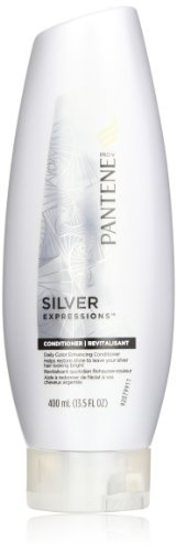 Pantene Silver Expressions Daily Color Enhancing Conditioner 13.5 Fl Oz (Pack of 2) by Procter & Gamble - HABA Hub [Beauty] (English Manual)