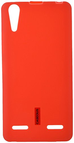 Lenovo A6000 / A6000 Plus (Red) - from CASEOUS™ Back Case Cover Soft Matte Finish  available at amazon for Rs.99
