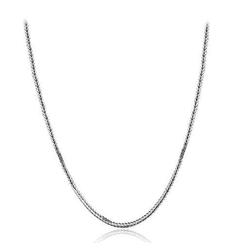 Halsketten für Frauen Schmuck WJsbxx 60 cm 925 Silber Fuchsschwänze Chopin Kette Halskette Frauen Mädchen Schmuck Hochzeit Geschäftsbankett