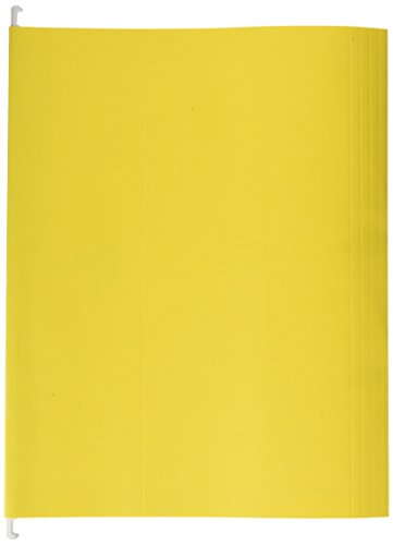 Sparco Hanging Folder, 1/5 Tab Cut, Letter, 25 per Box, Yellow(SPRSP5215YEL)