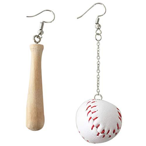 Ncbvixsw Neue Sportswear Holz Ohrringe Asymmetrische Baseballschläger Ohrringe Modeschmuck, Schöne Und Mode Ohrring Ohrstecker Schmuck Für Frauen Männer Mädchen Festival Party