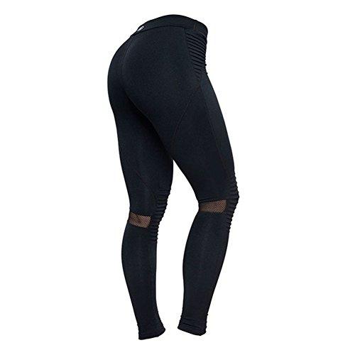 Legging Femme taille haute Pantalons de survêtement Femmes Yoga Pantalon Push Up Collants élastique pantalons Jogging doux confortable Fitness Gymnastique Leggins Hibote Noir A