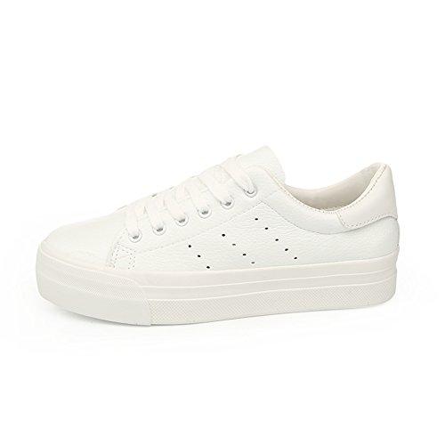 Chaussures lacées/Chaussures femme/La version coréenne de chaussures à semelles épaisses/Chaussure respirante/Chaussures de sport étudiant G