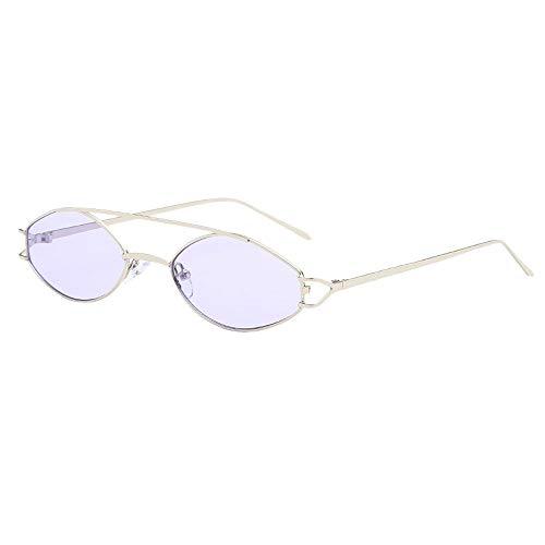 KItipeng Unisex Vintage Sonnenbrillen Retro Metallrahmen Eyewear Mode Ellipse Farbige Linse Strahlenschutz Ultraleicht Rahmen Brillen UV400 Polarisierte Brillen