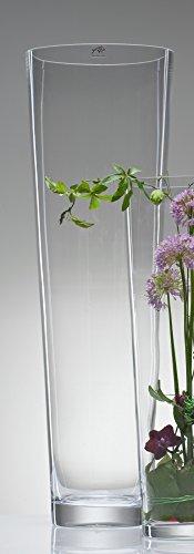 Jarrón cristal Jarrón Suelo cónica Jarrón de cristal grande 70cm