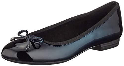 Marco Tozzi 2-2-22100-23, Bailarinas para Mujer, Azul Navy Patent 826, 38 EU