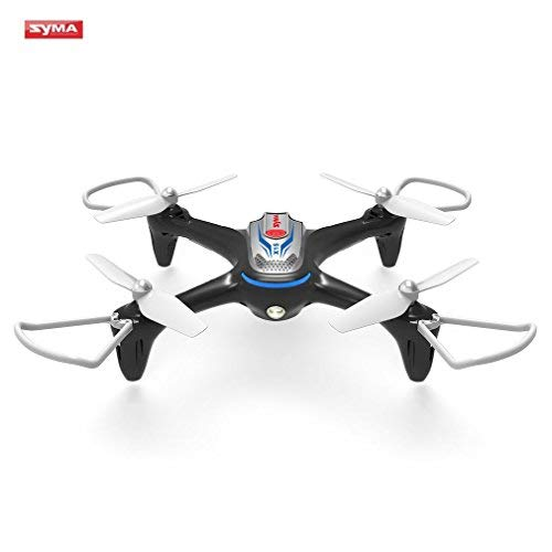 FPVRC Syma x15 Drones for Children 2.4 GHz 4 CH 6-Axis RC cuadricópteros with Altitude Retention, Headless Mode, 360 ° Rotation and LED Light Black (Flugzeug-kit Gas Rc)