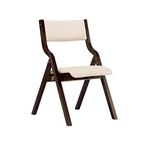 Hohe Rückenlehne Aus Bugholz Stuhl (SACKDERTY Klappstuhl Hölzerner faltender speisender Stuhl Kunstleder-Rückenlehnen-Schreibtisch-Stuhl-Kaffee-Stuhl)