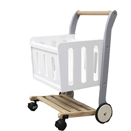 Salon Trolleys Baby Walker Push Along Toy, hölzerner Pull Along Wagon for 1-3 Jahre, Pull/Push Walker & Lagerung als 2 in 1 Verwendung - 40 × 45 × 68,5 cm (Für Walker Babys 2 Einem In)