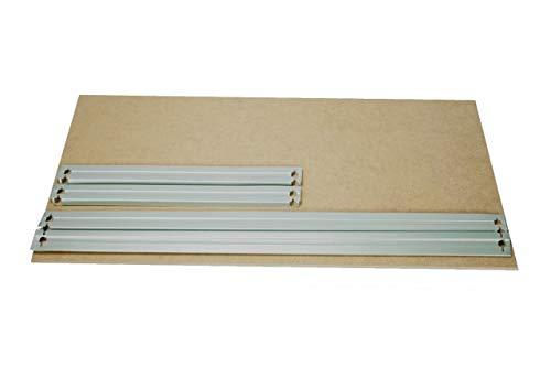 HDF Boden 120x60 cm mit Traversen weiß Ersatzboden Lagerregal Kellerregal Metallregal Garagenregal Regal