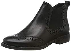 Tamaris Damen 1-1-25993-23 Stiefeletten, Schwarz (Black Leather 3), 40 EU