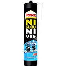 """Pattex Cartouche de Colle""""Ni clou ni vis"""" Résiste à l'Eau - 450 g - Blanc"""