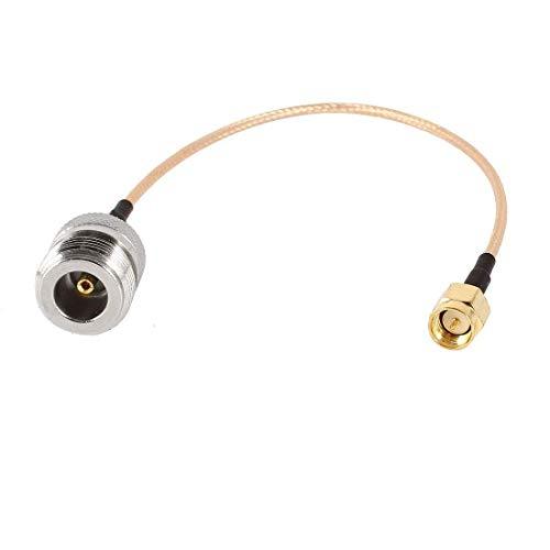 N Typ SMA Anschluss Kabel - TOOGOO(R)225 mm/ 9 Zoll N-Typ Stecker auf SMA Buchse Adapter Kabel (Typ-n-stecker-adapter)