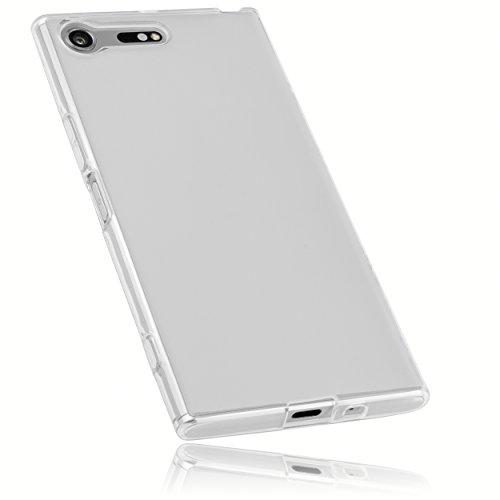 mumbi Schutzhülle für Sony Xperia XZ Premium Hülle transparent weiß