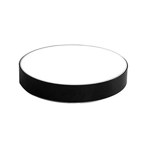 Lzpff 30 cm Moderne einfache Art-Acryl runde LED kaltes weißes Licht 6000 K Deckenleuchte Deckenleuchte for Wohnzimmer Schlafzimmer Esszimmer Schwarz Single Pack -